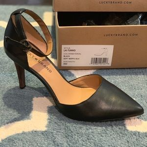New in Box Lucky Brand Ankle Strap Pumps